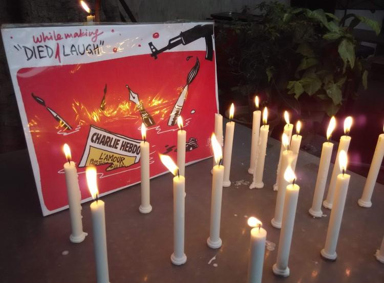 Charlie Hebdo tribute (Photo by Pk4wp)