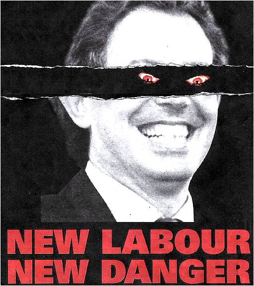 The Conservatives' New Labour New Danger campaign poster