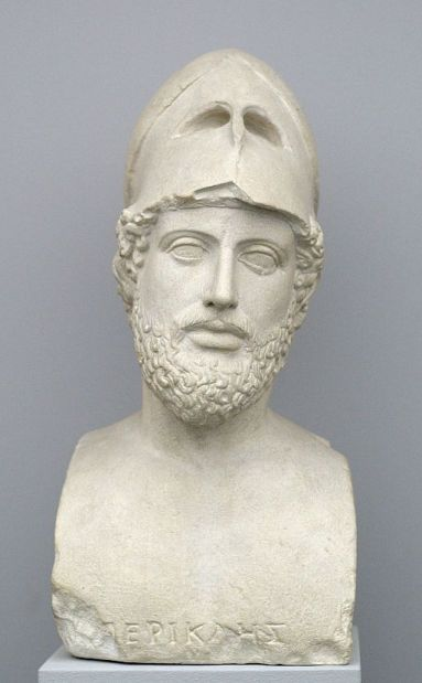 A bust of Pericles copied from the original at the British Museum