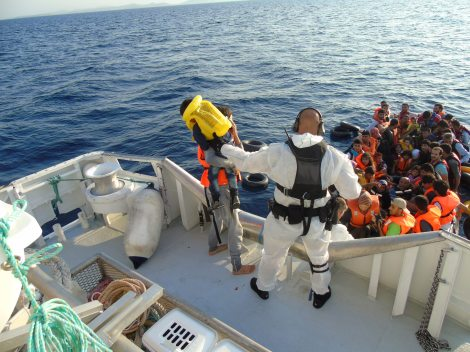 59 migrants are rescued by the crew of Peter Henry von Koss as part of Frontex's Operation Poseidon - Photo by Kripos_NCIS (Creative Commons 2.0)