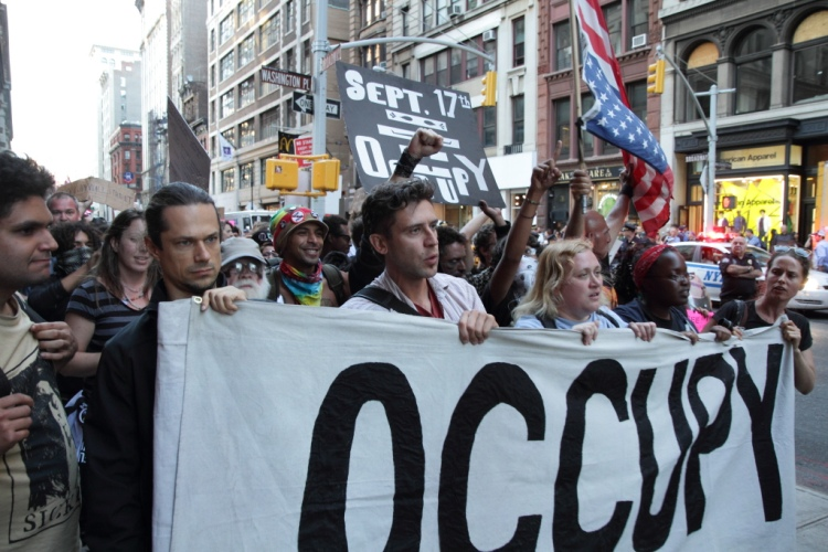 Occupy Wall Street demonstration, September 2012 - Photo by Paul Stein (Creative Commons 2.0)