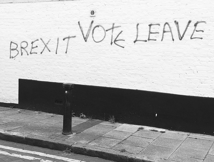 Graffiti during the run up to the EU referendum in the UK Photo by Sam (CC BY-SA 2.0)
